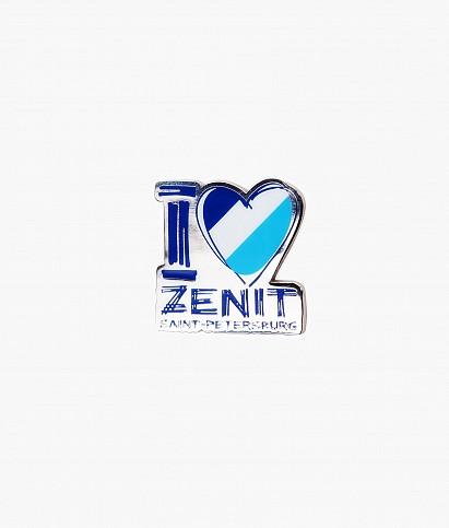 """I Love Zenit St.P."" magnet"