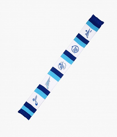 """Knitted scarves """"Five logos"""""""