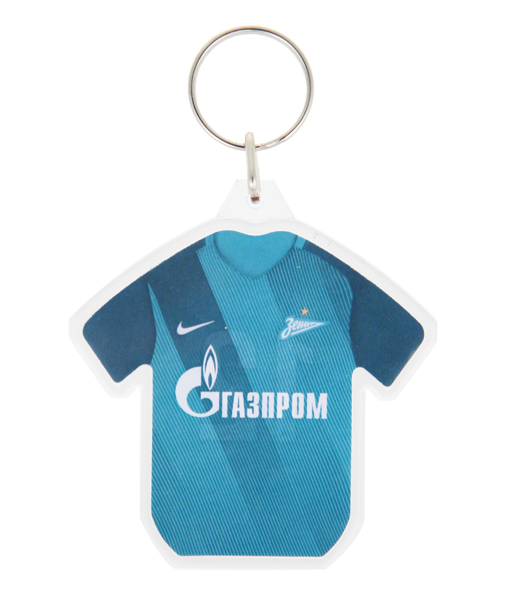 Брелок пластиковый «Футболка» Зенит футболка wearcraft premium slim fit printio фк зенит
