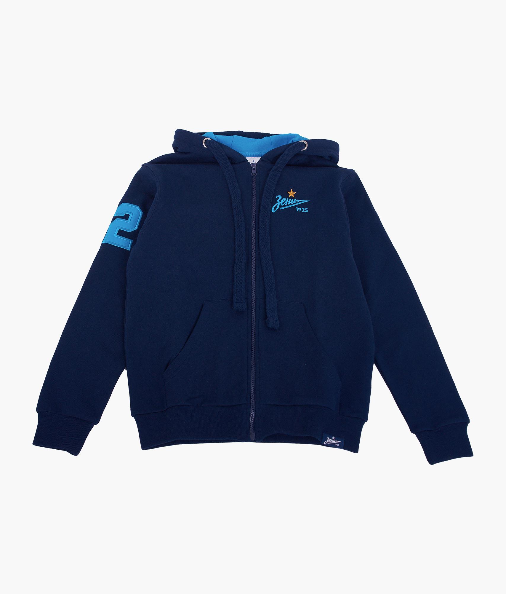 Фото - Толстовка детская Зенит Цвет-Темно-Синий куртка женская trussardi цвет темно синий 36s00158 blue night размер l 46 48