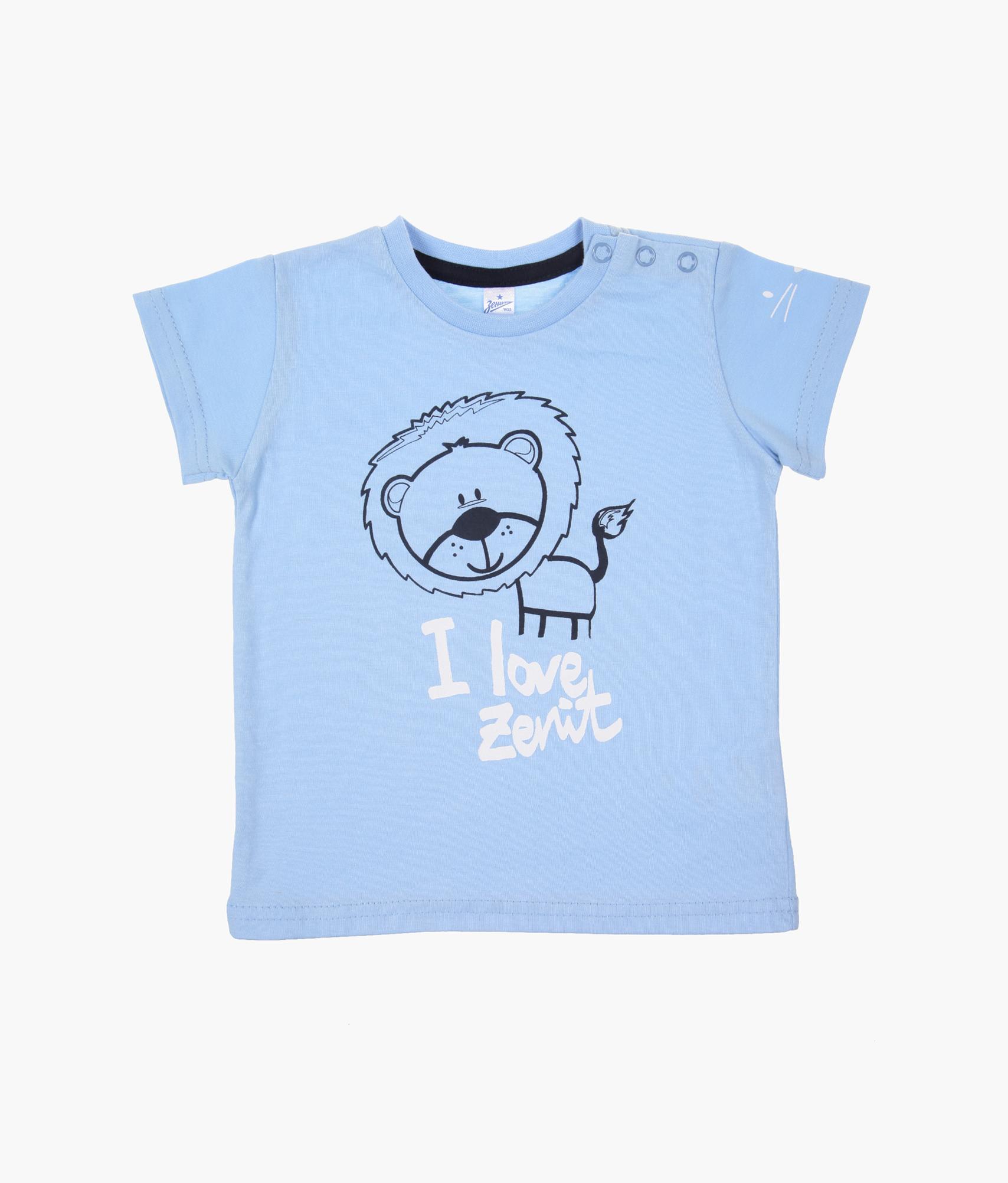 Футболка детская Зенит Зенит Цвет-Голубой футболка зенит со своей фамилией