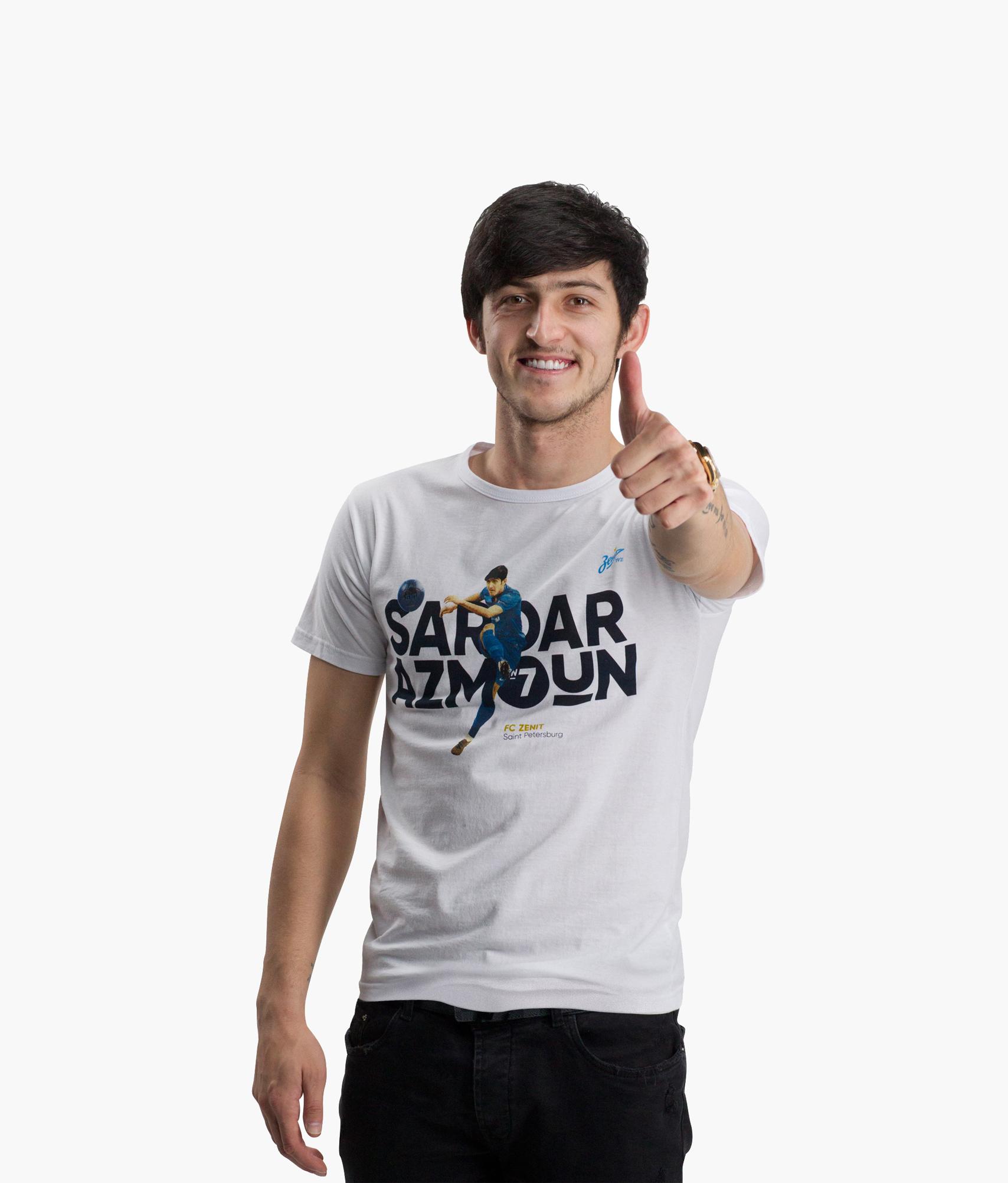 Футболка мужская #СердарАзмун Зенит Цвет-Белый