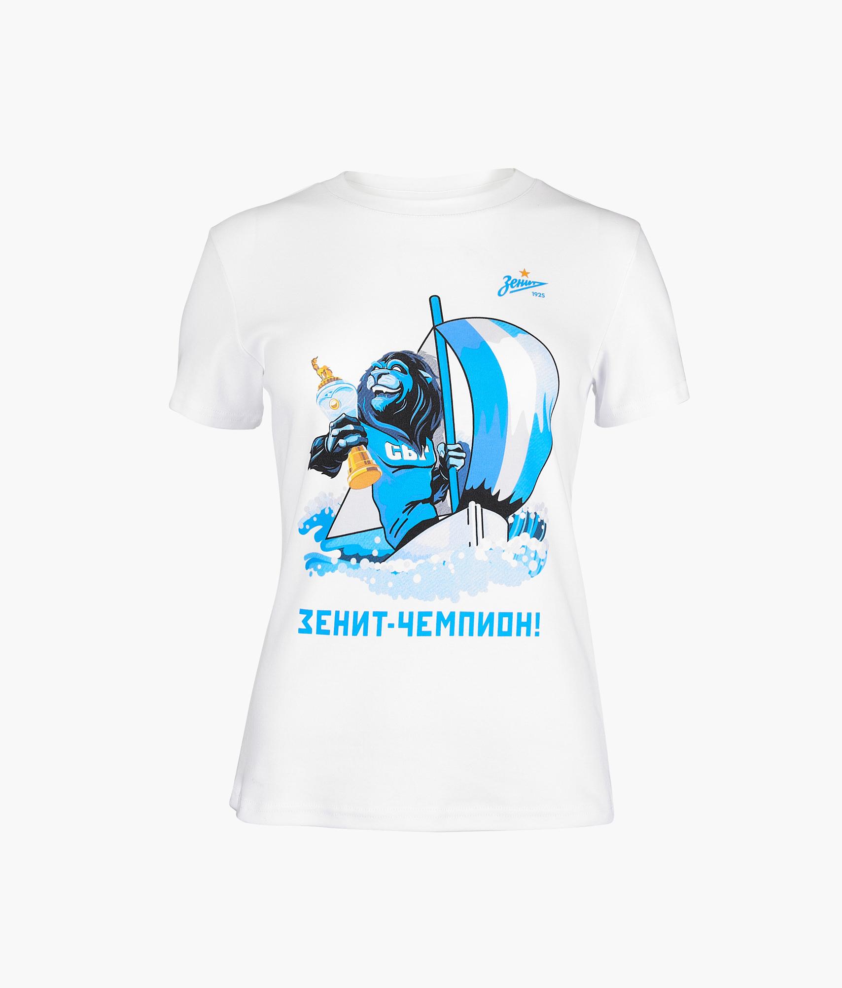 Футболка женская «Чемпион» Зенит Цвет-Белый