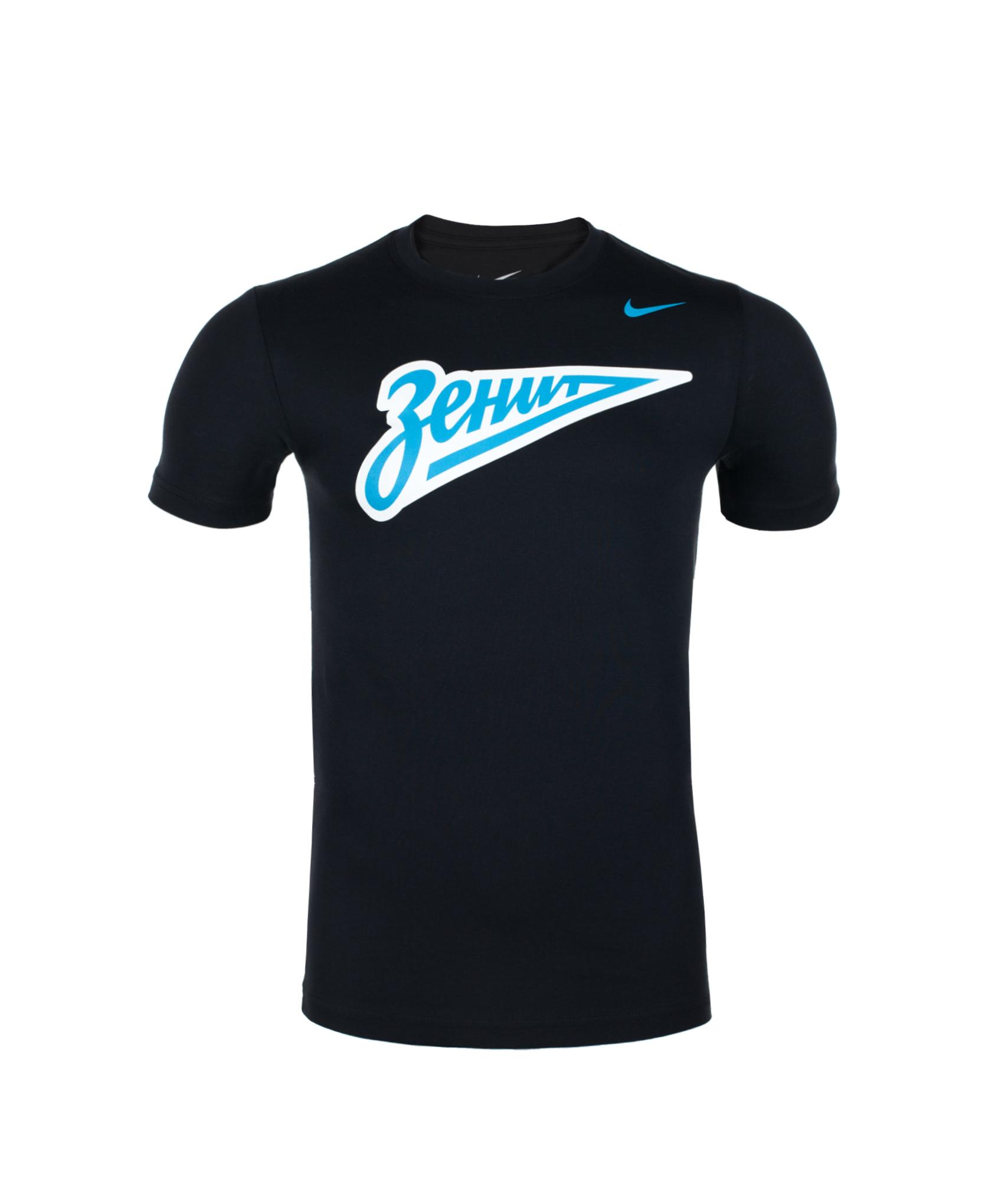 Футболка Nike ZENIT CORE BASIC CREST TEE, Цвет-Черный, Размер-XXL