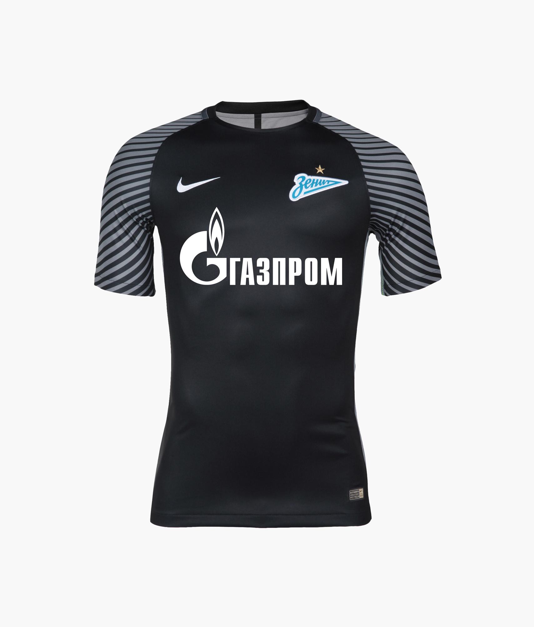 Оригинальная вратарская футболка Nike 2016/2017 Nike Цвет-Черный