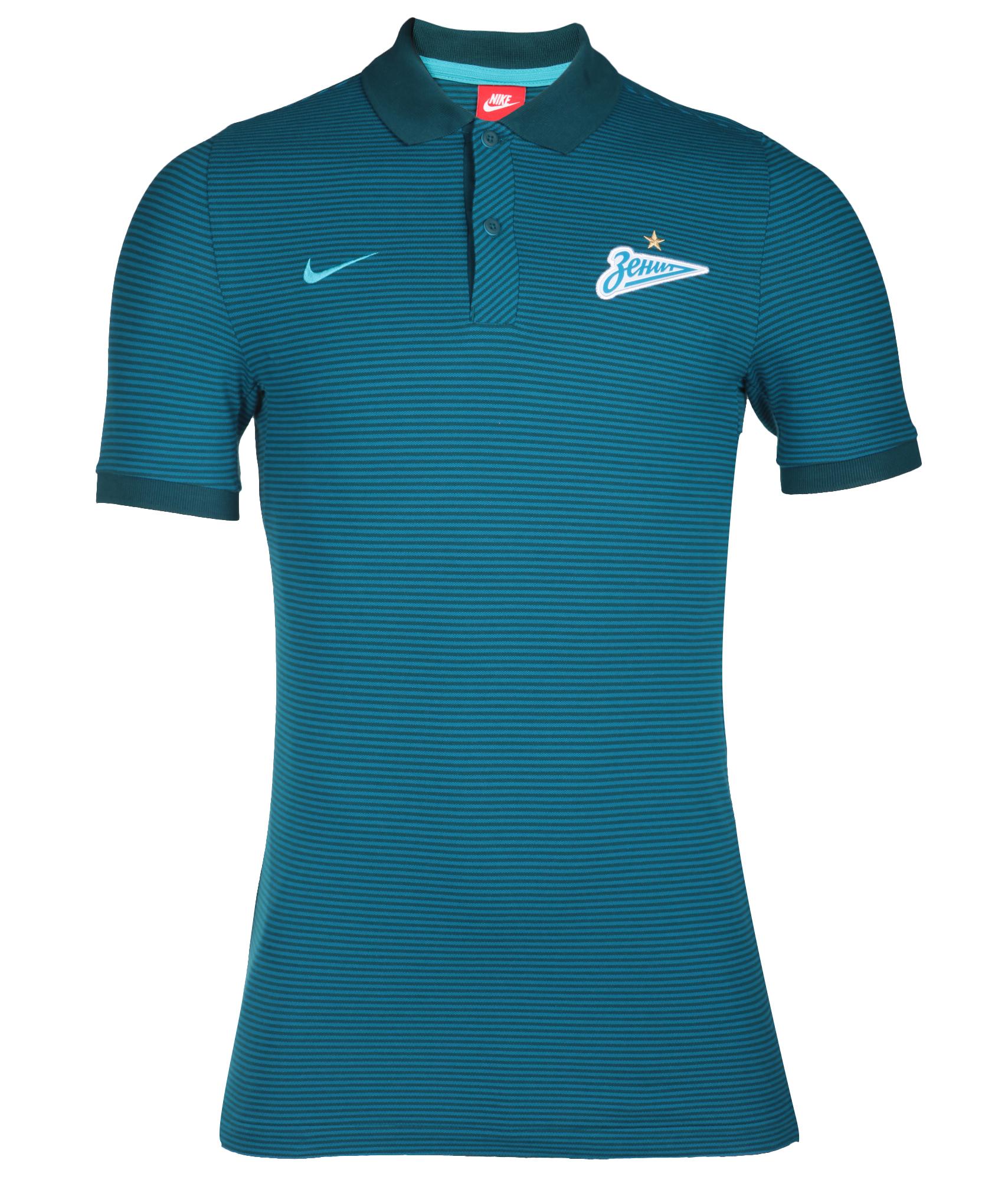 Поло Nike Nike Цвет-Сине-Зеленый