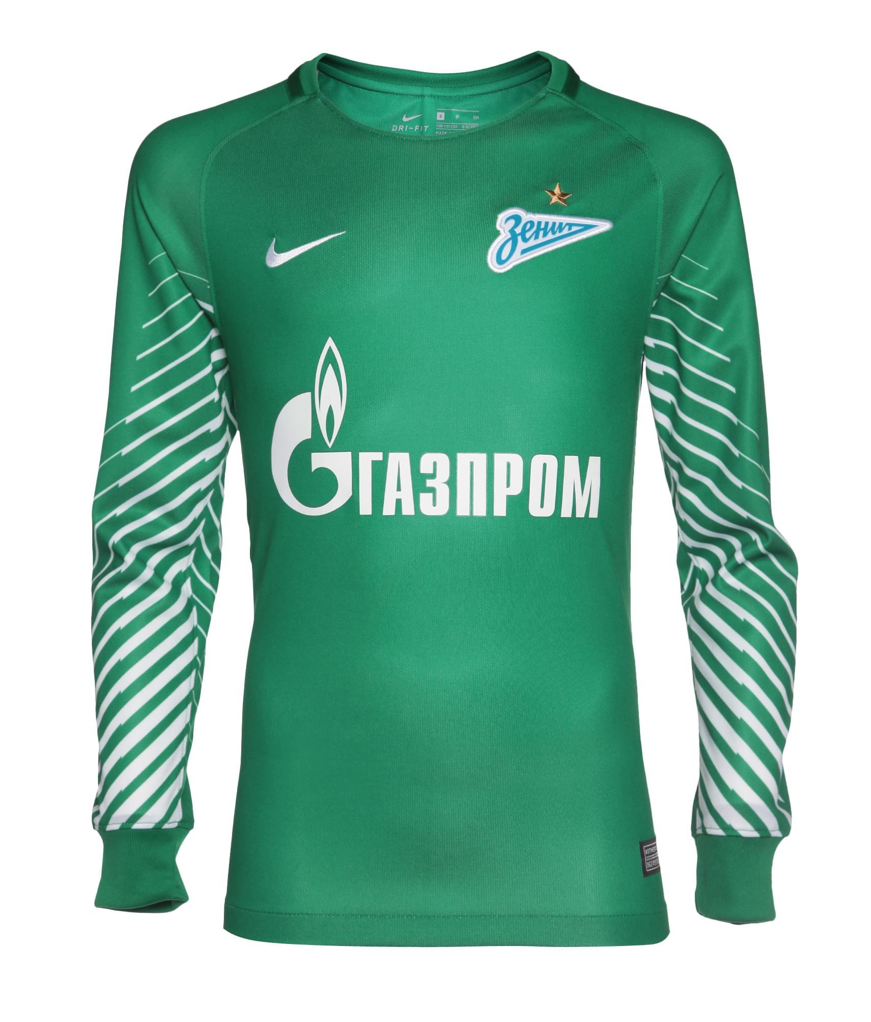 Футболка вратарская подростковая Nike сезона 2017/2018 Nike Цвет-Зеленый nike nike ni464aghca01