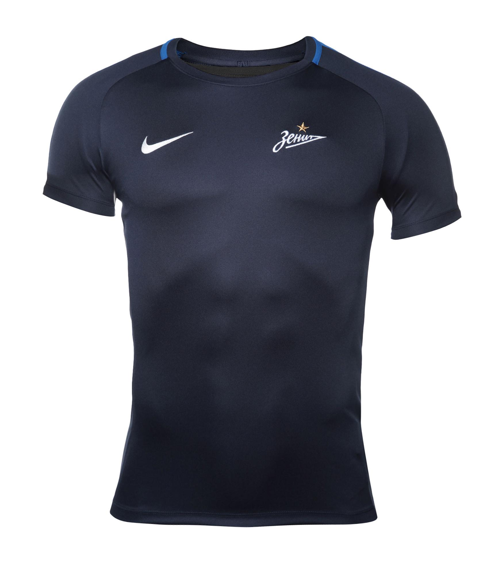 Футболка тренировочная Nike, Цвет-Темно-Синий, Размер-M поло nike цвет голубой размер m