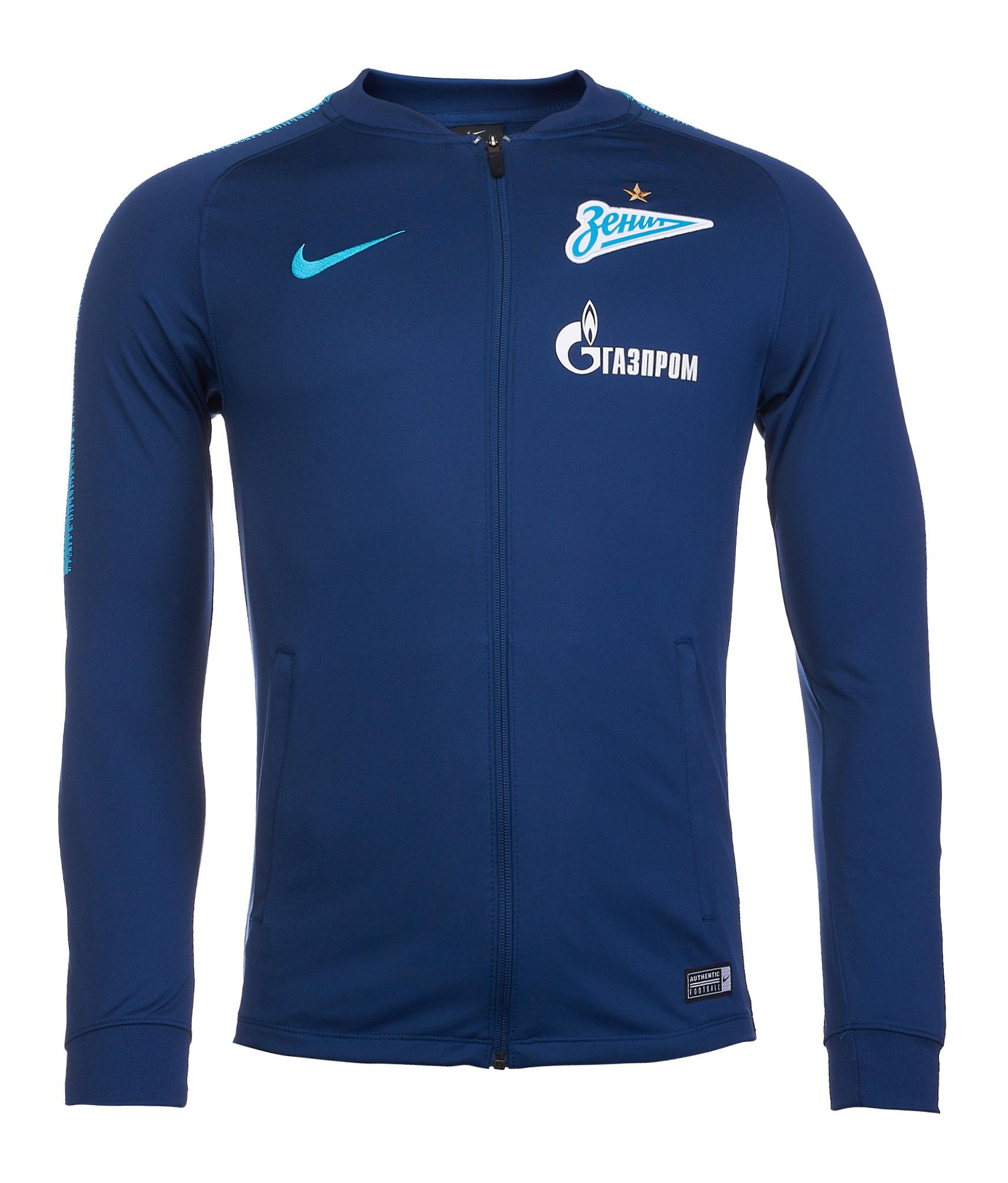 Куртка от костюма Nike Zenit сезона 2018/19 Nike Цвет-Синий куртка для костюма nike academy 14 sdln knit jkt 588470 739