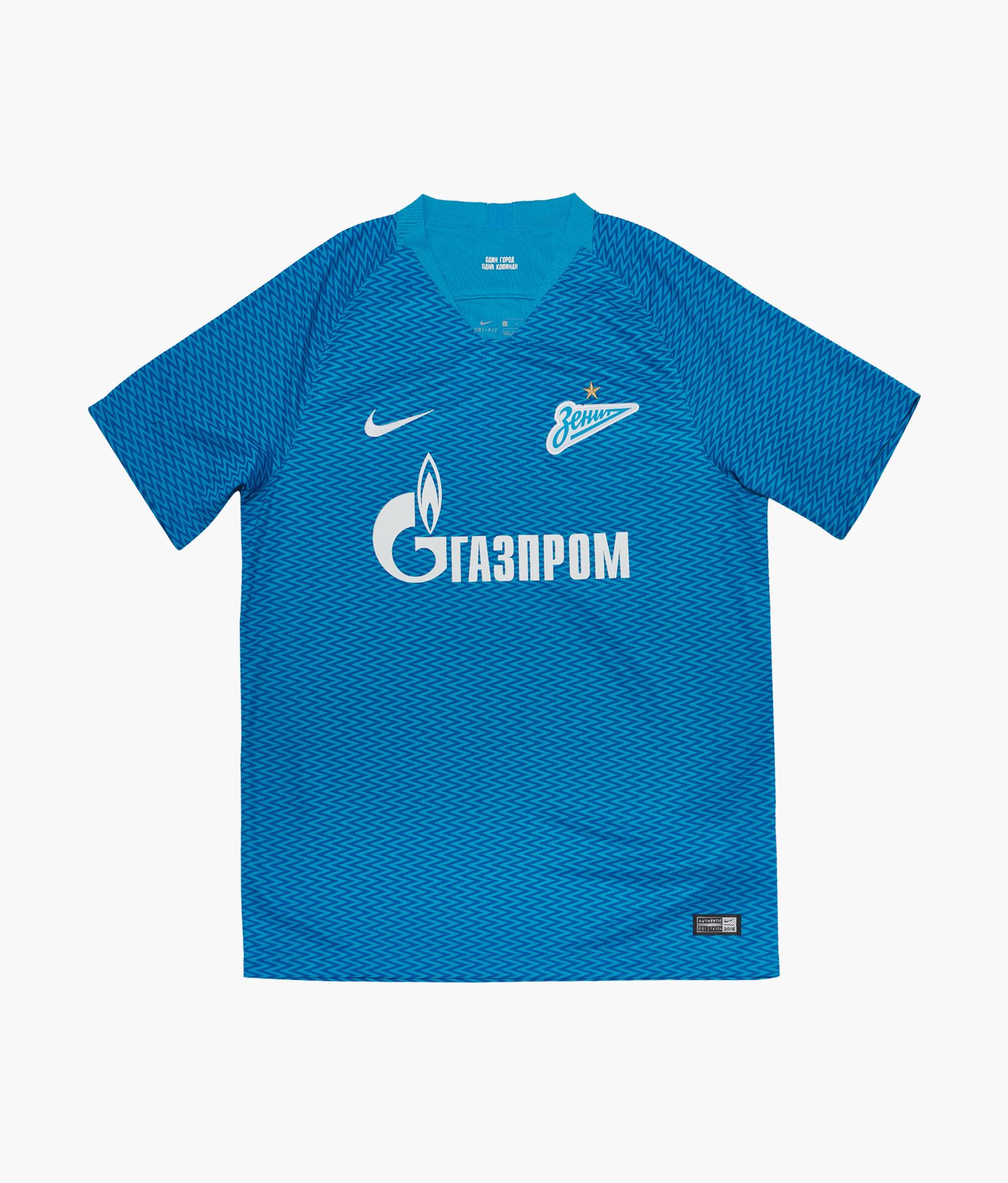 38e21fd97528 Домашняя игровая футболка Nike сезона 2018 2019 919692-449 купить за 4 999  руб в интернет магазине ФК Зенит