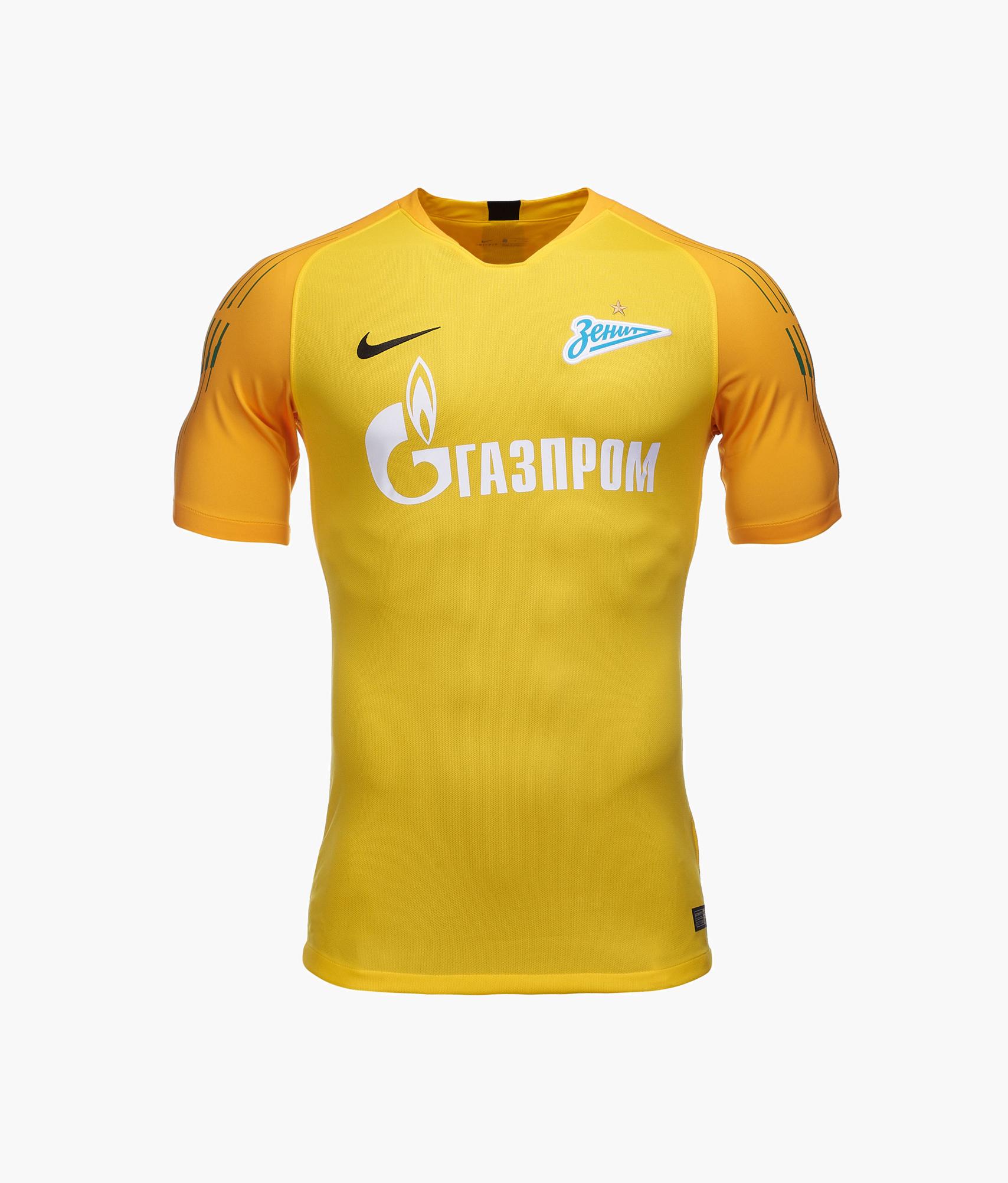 Футболка вратарская сезона 2018/2019 Nike Цвет-Желтый