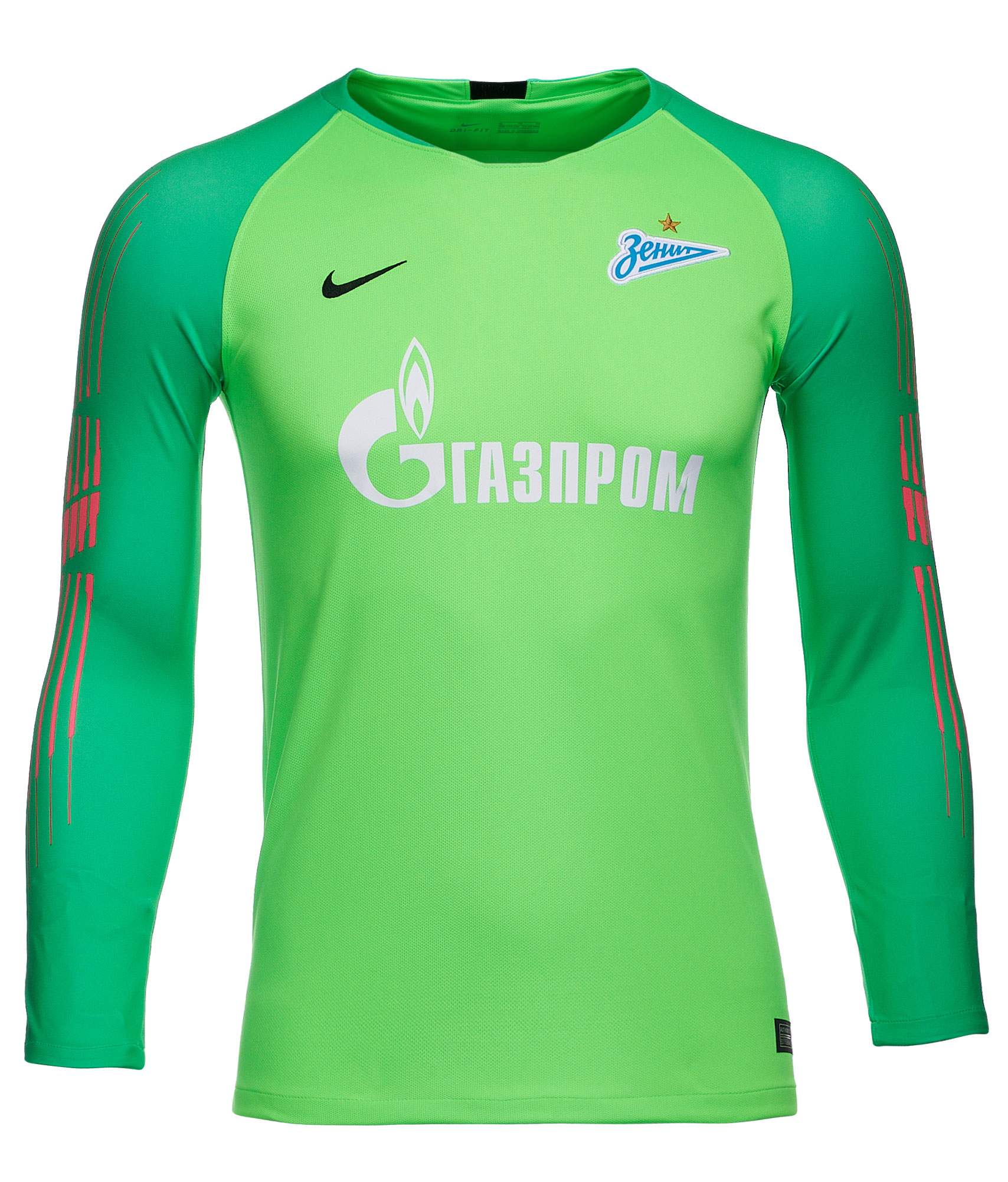 Футболка вратарская подростковая сезона 2018/2019 Nike Цвет-Зеленый