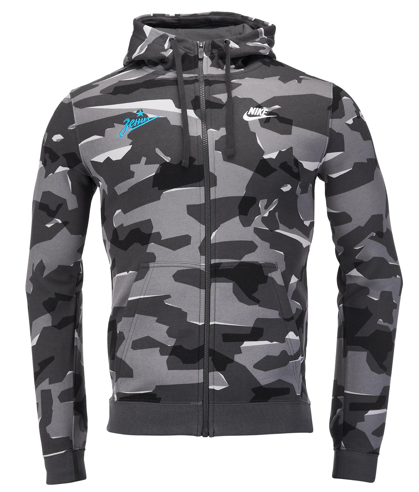 79766106 Толстовка с капюшоном Nike Zenit Camo AJ2105-065 купить за 5 150 руб в  интернет магазине ФК Зенит