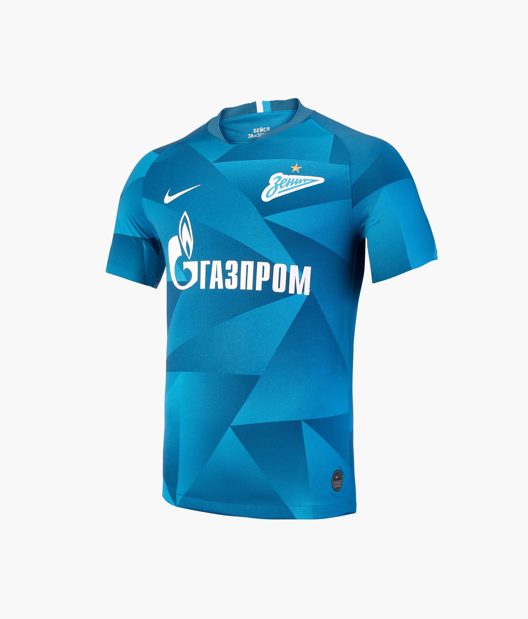 Домашняя игровая футболка Nike сезон 2019/20 Nike Цвет-Синий оригинальная домашняя футболка nike фк зенит 2019 20