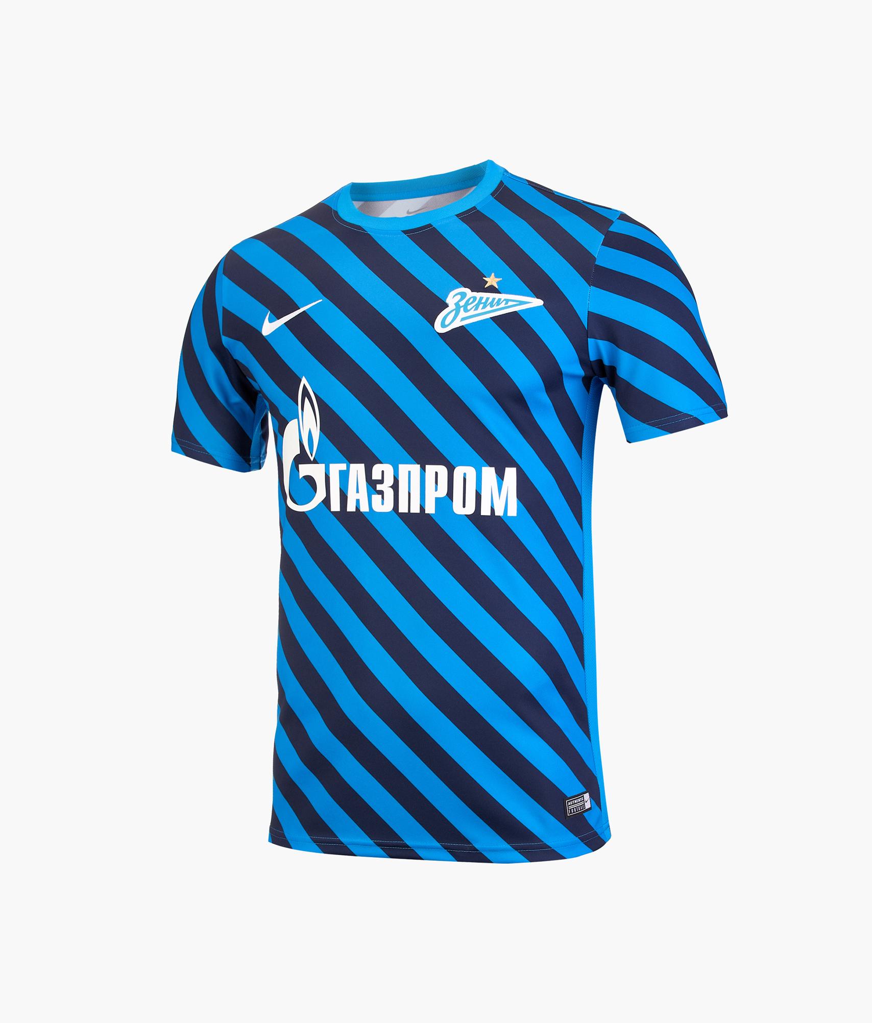 Предыгровая футболка Nike Zenit 2019/20 Nike Цвет-Синий цена 2017