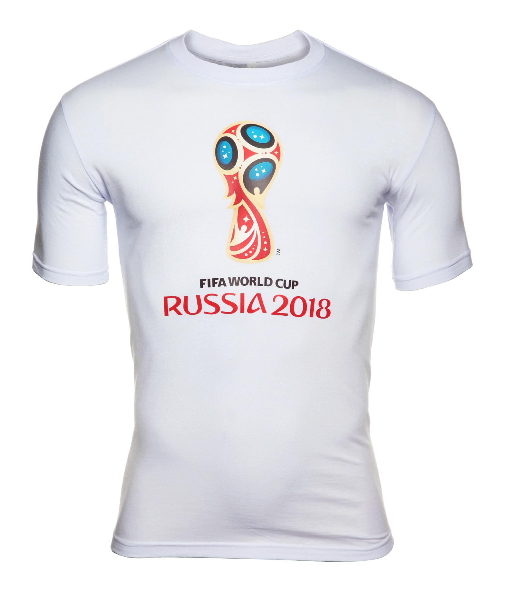 Футболка мужская «Эмблема Чемпионата мира-2018» Зенит Цвет-Белый значок закатной эмблема чемпионата мира 2018 зенит