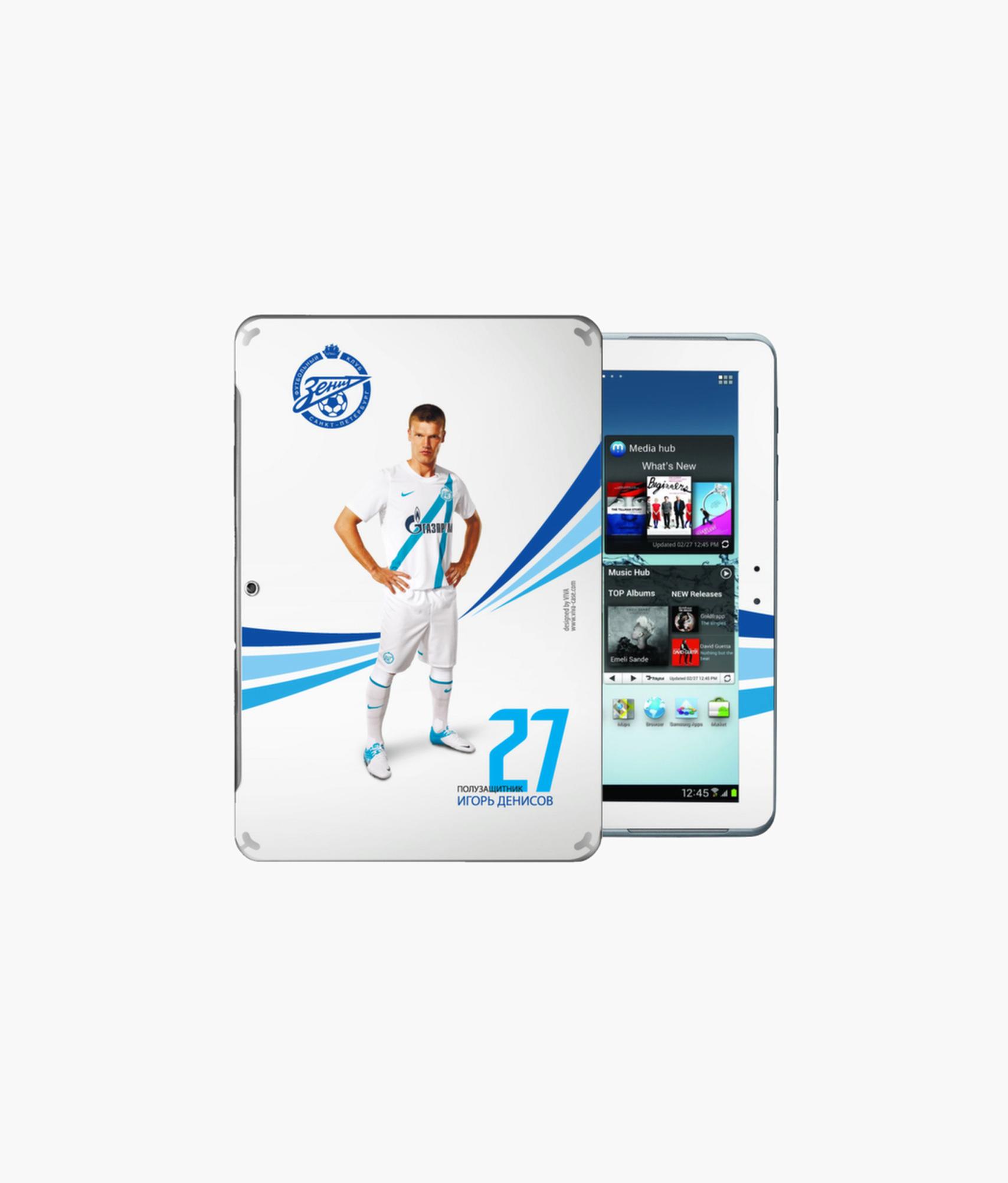 Наклейка на GalaxyTab2 «Денисов» Зенит наклейка