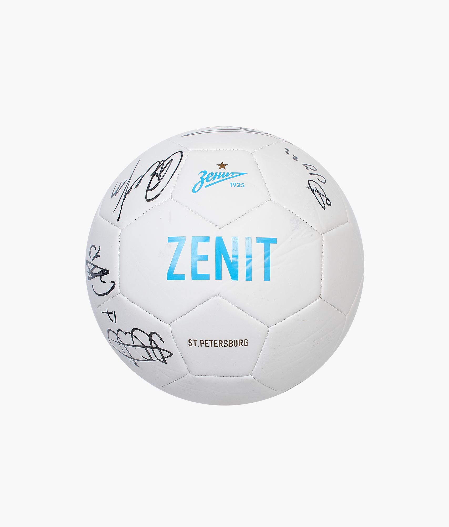 Мяч футбольный Nike с автографами (2018) Зенит мяч футбольный novus crystal р 4 бело сине красный